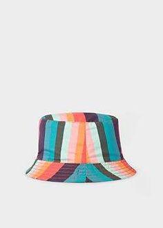 Baby Boys  Reversible  Artist Stripe  Bucket Hat 2841b36d0ddf