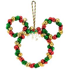 Jingle Bells Mickey Mouse Wreath - cute door idea for someone who loves all things Disney