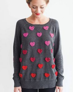 Valentine's Yarn sweater makeover