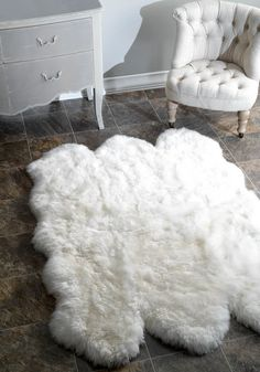 first thing my feet feels after I wake up? yes. 3 x 5 Large White Faux Fur Rug