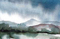 Monsoon Evening - Original Watercolor Painting