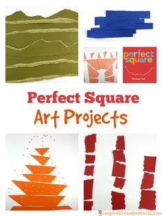 What can you make from a square? Great art project for kids!