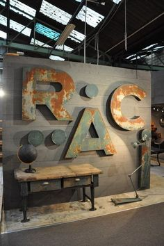set of 4 painted metal letters c.1950 Espace Nord Ouest                                                                                                                                                                                 More