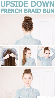 Upside-down French Braid Bun
