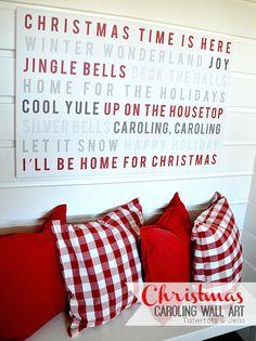 christmas caroling wall art SO cute!