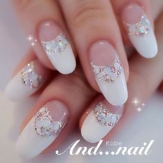 white with jewels