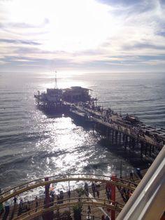 Santa Monica Pier from above