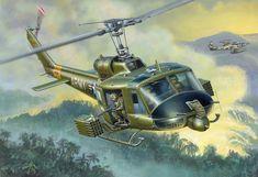 UH-1B Huey durante la Guerra de Vietnam,