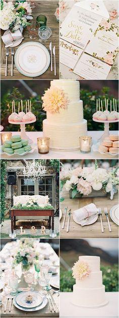 Romantic rustic outdoor pink wedding ideas Photo via Caroline Tran