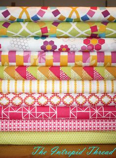 A very happy collection of fabric