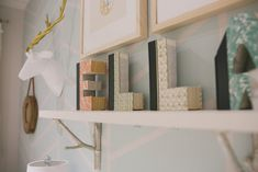Books carved into letters - fun nursery decor idea! Love this!!