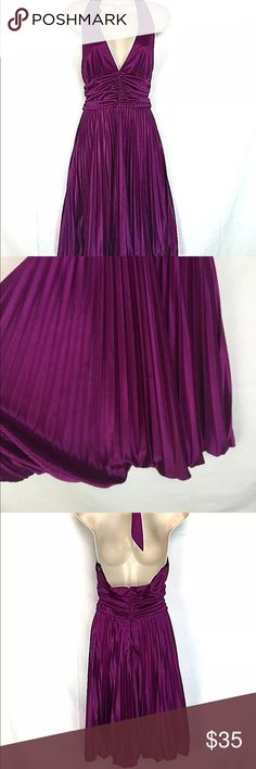 Betsy & Adam by Linda Bernell Halter Purple Dress Betsy And Adam by Linda Bernell Halter Sexy Purple Dress size 4 petite Size 4P In very good condition 100% polyester Betsy & Adam Dresses Strapless