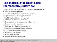direct sales representative interview questions and answers - Call Center Interview Questions Answers Tips