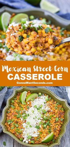 NEW Our Mexican Street Corn Caserole is warm comforting super delicious! All the amazing flavors of your favorite street food right from your own oven! Corn Casserole, Casserole Recipes, Side Dish Recipes, Dinner Recipes, Mexican Side Dishes, Cheesy Chicken Enchiladas, Mexican Street Corn, Kitchen Recipes, Vegetable Dishes