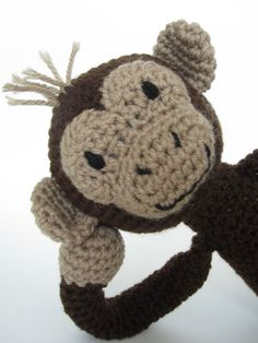Crochet amigurumi monkey stuffed animal by HandSpunCreations, $30.00