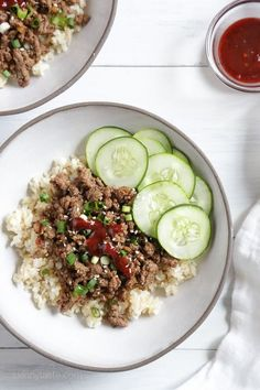 Korean Beef Rice Bowls. Could easily substitute turkey.
