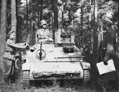 TK-S(p) tankette rearmed with an MG-151 Cannon. The TK-S tankette equipped the Polish Army. After the Fall of Poland in 1939, several were captured by the Germans and used mostly as Gun Tractors.