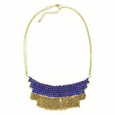 Cobalt Fringed Necklace