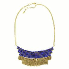 Cobalt Fringe Necklace, #handmade, #india, #fairtrade, #fringefun