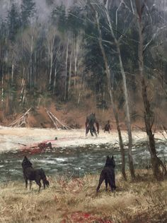 ArtStation - the colors of autumn, Jakub Rozalski
