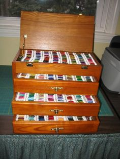 Thread storage for someone like me who has too many spools of embroidery thread...like it!