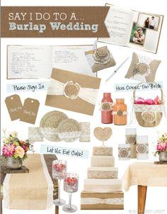 """Say """"I do"""" to a burlap wedding!"""