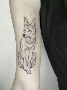 Coyote Tattoo, Hawk Tattoo, Tattoo Now, Fox Tattoo, Teen Wolf Tattoo, Small Wolf Tattoo, Classy Tattoos, Cool Tattoos, Tatoos
