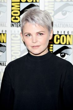 Ginnifer Goodwin Tries Out Lavender - Silver Hair Trend 3