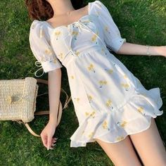 Korean Kpop Rose Blackpink Cherry Much Dress – SYNDROME - Cute Kawaii Harajuku Street Fashion Store Source by fashion street Girl Outfits, Casual Outfits, Summer Outfits, Cute Outfits, Casual Dresses, Cute Fashion, Asian Fashion, Korean Street Fashion Summer, Cute Korean Fashion