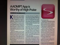 AAOMPT App is Worthy of High Praise-Keeping up with PT research!   Pinned by SOS Inc. Resources.  Follow all our boards at pinterest.com/...  for therapy resources.