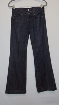SEVEN 7 FOR ALL MANKIND Jeans CRYSTAL DOJO Size 26 #7ForAllMankind #Flare