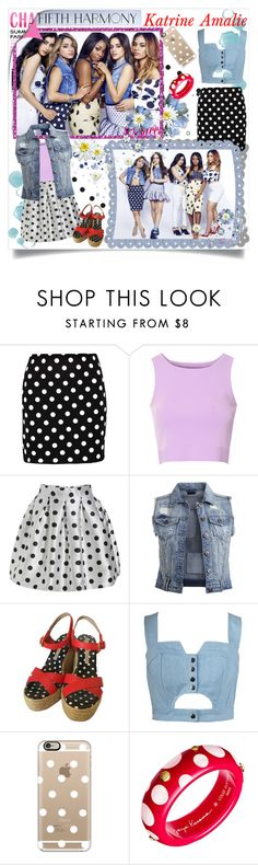 """Get The Look: Fifth Harmony- Polka Dot Trend"" by katrine-amalie ❤ liked on Polyvore featuring Boohoo, Glamorous, VILA, Marc by Marc Jacobs, Chicnova Fashion, Casetify and Louis Vuitton"