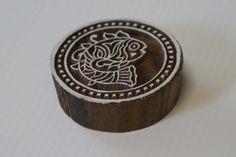 Round Fish Stamp  Wood Block Printing Stamp  Hand от GilbertsTree, $13.00