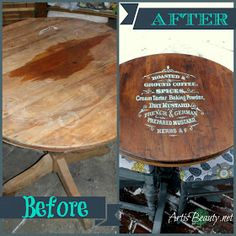 ART IS BEAUTY: Dumpster Dive Roadside Rescue Coffee Bistro Set Makeover