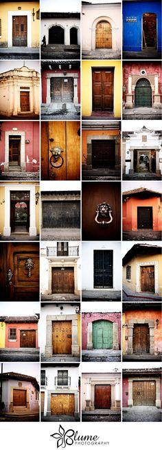 Antigua Guatemala doors...we have pictures of about 12 doors also....beautiful, unique doors.