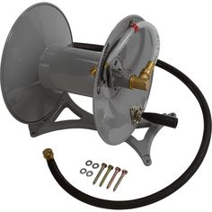 Strongway Parallel or Perpendicular Wall-Mount Garden Hose Reel — Holds 150ft. x 5/8in. Hose   Garden Hose Reels  Northern Tool + Equipment