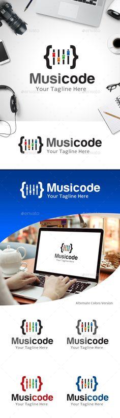 Music Code Logo — Vector EPS #media #clip • Available here → https://graphicriver.net/item/music-code-logo/11214167?ref=pxcr