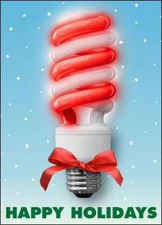 Light up the holiday spirit with Electrician Themed Christmas Cards that displays a fluorescent bulb striped like a candy cane.