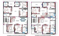 Furnished Apartment, Apartment Plans, Apartment Layout, Toilet Plan, South Facing House, House Roof Design, Commercial Complex, Beautiful House Plans, Building Layout