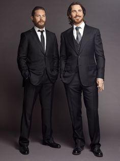 Tom Hardy & Christian Bale - TDKR Promo Photoshoot