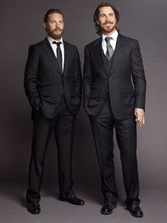Tom Hardy & Christian Bale - TDKR Promo Photoshoot