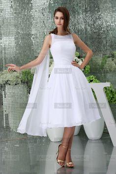 Robe de soiree blanche mi longue