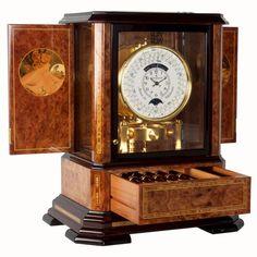 Jaeger Le Coultre Atmos Du Millenaire Marqueterie Clock. Gomoneyways.com. BEAUTIFUL SHOPPING