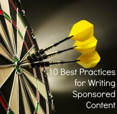 10 Best Practices for Writing Sponsored Content | BlogFrog #blogger