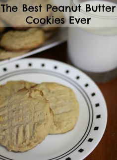 The Best Peanut Butter Cookies Ever. Make sure you make a double batch so that you get one.