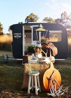 Caravan | The Woodsfolk. . Thinking blackboard paint!