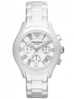 Emporio Armani Unisex White Ceramica Watch. 0a2f9bc334730