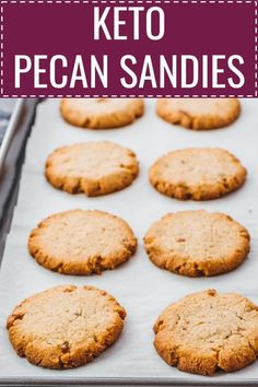 These homemade pecan sandies are amazing shortbread cookies, reminding me of holiday treats and sweets like mexican wedding cookies. This is an easy and healthy dessert: low carb, keto, and gluten…More Indulgent Sugar Free Snacks & Treat Recipes Low Carb Sweets, Low Carb Desserts, Low Carb Recipes, Dessert Recipes, Diet Recipes, Sauce Recipes, Dessert Ideas, Vegetarian Recipes, Vegetarian Chicken
