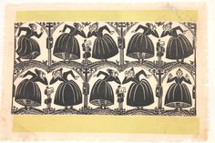 Vintage block print Folly Cove Design by SarahElizabethShop
