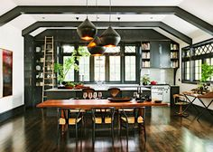 Spotted another gorgeousrenovationheaded by Interior designer Jessica Helgerson ... all the details are just beautiful. This home was originally built in 1915 and was the Library for the Sellwood...